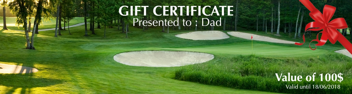 Father's day gift certificate