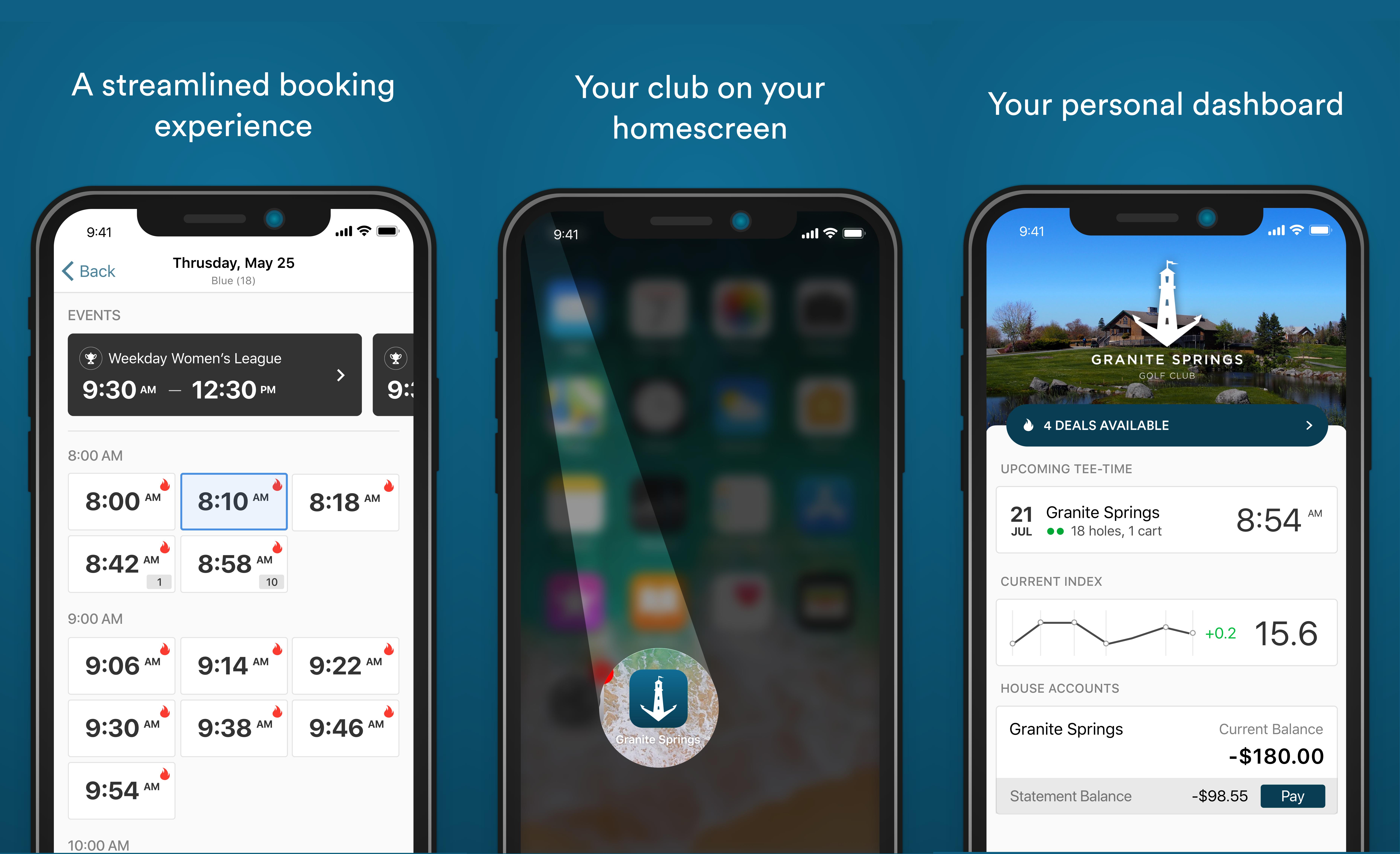 custom mobile golf software